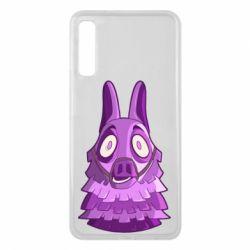 Чохол для Samsung A7 2018 Scared llama from fortnite