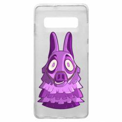 Чохол для Samsung S10+ Scared llama from fortnite
