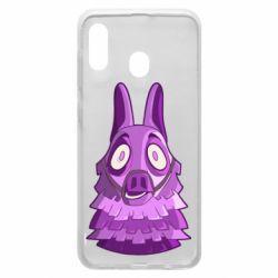 Чохол для Samsung A20 Scared llama from fortnite