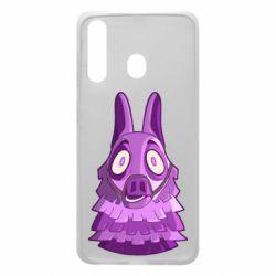 Чохол для Samsung A60 Scared llama from fortnite