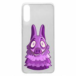 Чохол для Samsung A70 Scared llama from fortnite
