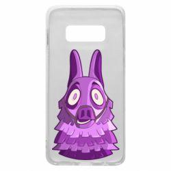 Чохол для Samsung S10e Scared llama from fortnite
