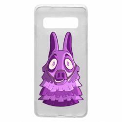 Чохол для Samsung S10 Scared llama from fortnite