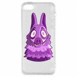 Чохол для iphone 5/5S/SE Scared llama from fortnite