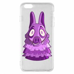 Чохол для iPhone 6 Plus/6S Plus Scared llama from fortnite
