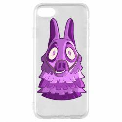 Чохол для iPhone 7 Scared llama from fortnite
