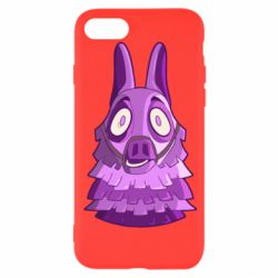 Чохол для iPhone 8 Scared llama from fortnite