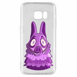 Чохол для Samsung S7 Scared llama from fortnite
