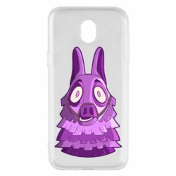 Чохол для Samsung J5 2017 Scared llama from fortnite