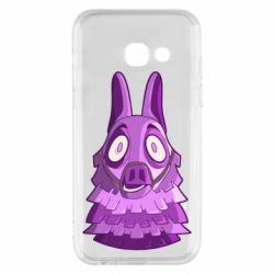 Чохол для Samsung A3 2017 Scared llama from fortnite