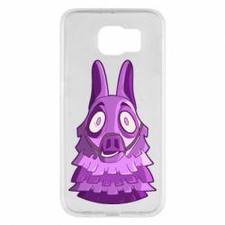 Чохол для Samsung S6 Scared llama from fortnite