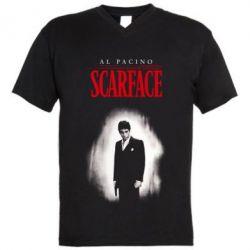Чоловіча футболка з V-подібним вирізом Scarface Platinum