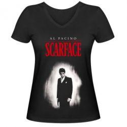 Жіноча футболка з V-подібним вирізом Scarface Platinum