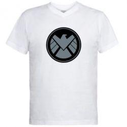 Мужская футболка  с V-образным вырезом Щ.И.Т. - FatLine