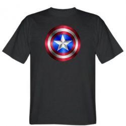 Мужская футболка Щит Капитана Америка - FatLine