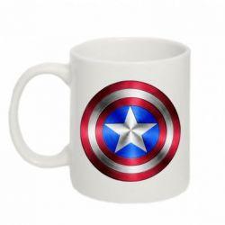 Кружка 320ml Щит Капитана Америка - FatLine