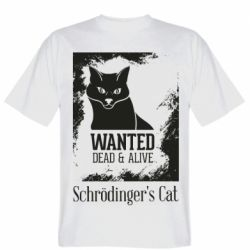 Мужская футболка Schrödinger's cat is wanted