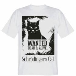 Чоловіча футболка Schrödinger's cat is wanted