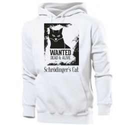 Мужская толстовка Schrödinger's cat is wanted