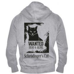 Чоловіча толстовка на блискавці Schrödinger's cat is wanted