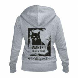 Женская толстовка на молнии Schrödinger's cat is wanted
