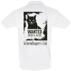 Футболка Поло Schrödinger's cat is wanted