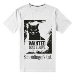 Мужская стрейчевая футболка Schrödinger's cat is wanted