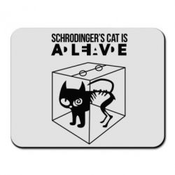 Коврик для мыши Schrodinger's cat is alive - FatLine