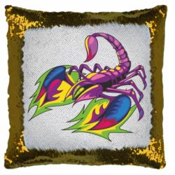 Подушка-хамелеон Scorpion tattoo