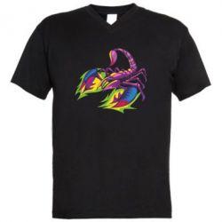 Чоловіча футболка з V-подібним вирізом Scorpion tattoo