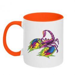 Кружка двоколірна 320ml Scorpion tattoo
