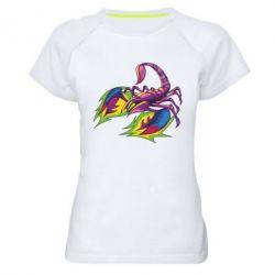 Жіноча спортивна футболка Scorpion tattoo