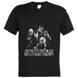 Мужская футболка  с V-образным вырезом Scorpions 2016