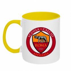 Кружка двоколірна 320ml Scuola logo