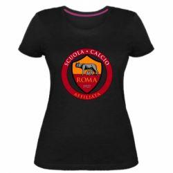 Жіноча стрейчева футболка Scuola logo