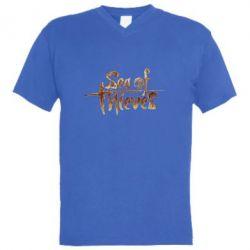 Чоловіча футболка з V-подібним вирізом Sea of Thieves logo