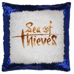 Подушка-хамелеон Sea of Thieves logo