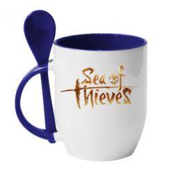 Кружка з керамічною ложкою Sea of Thieves logo