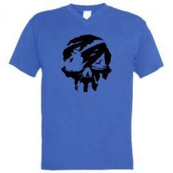 Чоловіча футболка з V-подібним вирізом Sea of Thieves skull