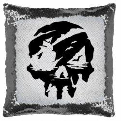 Подушка-хамелеон Sea of Thieves skull