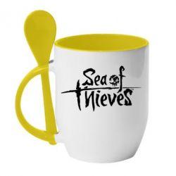 Кружка з керамічною ложкою Sea of Thieves
