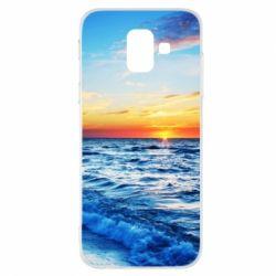 Купить Лето, Чехол для Samsung A6 2018 Sea, FatLine