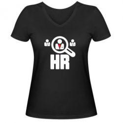Женская футболка с V-образным вырезом Search HR