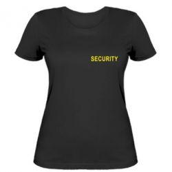 Женская футболка Security - FatLine