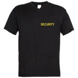 Мужская футболка  с V-образным вырезом Security - FatLine