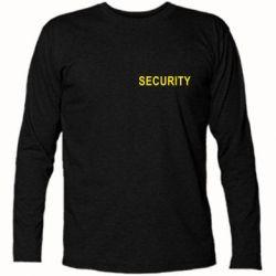 Футболка с длинным рукавом Security - FatLine