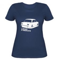 Женская футболка Седан синдикат