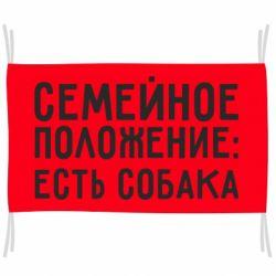 Флаг Семейное положенеи: Есть собака