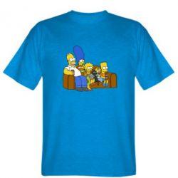 Мужская футболка Семейство Симпсонов - FatLine