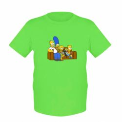 Детская футболка Семейство Симпсонов - FatLine